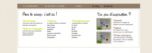 Kit menu horizontal spécifique